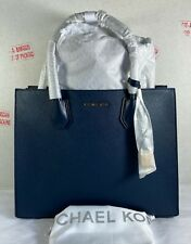 Michael Kors Mercer Large Convertible Navy Saffiano Leather Tote Bag
