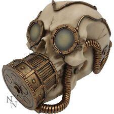 Mechanical Respirator Skull Head Steampunk Gothic Figure Ornament Art Figurine
