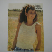 """Knitting Pattern Child Ladies Sleeveless Top 28-38"""" Studley Five In One 1314"""