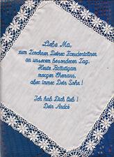 2 x Taschentuch dein Wunsch - Text Datum Hochzeit