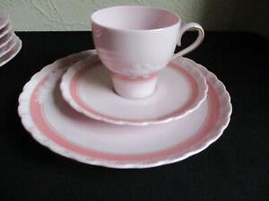 Hutschenreuther Porcelaine Rose Monique 1 Kaffeegedeck 3 tlg. wie NEU