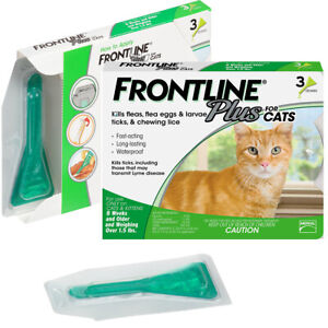 FRONTLINE Plus Flea and Tick Treatment for Cats Kittens - 3 Doses Free shipping
