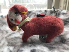 Cragstan Tin Toy Furry Itchy Dog Pooch WIND UP JAPAN Vintage Ladybug