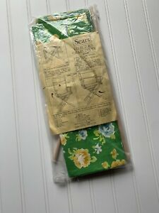 Vintage Retro Sears Director's Chair Cover Set Cotton Duck Green Floral NEW!