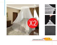 vidaXL 50263 56x325x230cm Pack de 2 Moustiquaires Rondes en Polyester - Blanc