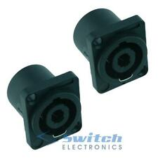 2 x Speakon 4 Pole Loudspeaker Socket Female Connector