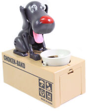 Choken-Bako Kid Coin Bank Saving Box Puppy Hungry Robotic Dog Money Collection