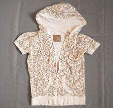 Kapuzenshirt T-shirt weiß Blümen Gr.146-152 von C&A