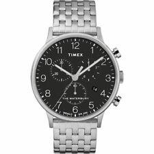 Reloj Pulsera Reloj Timex Hombre Esfera Negra Crono Waterbury Clásico TW2R71900
