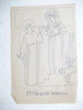 Henri BROCHET dessin sur papier calque SAINTE Françoise Romaine 1940