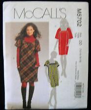 MCCalls Pattern #M5702 Misses/Miss Petite Dress Losse Fit Bias Cut (4-6-8-10-12)