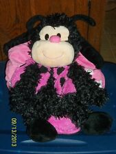 JAY AT PLAY HAPPY NAPPERS PILLOW BLACK & PINK LADYBUG IN HOUSE PLUSH