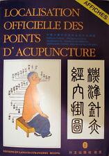 3 affiches-Localisation Officielle Des Points D'acupuncture-en français-épuisé