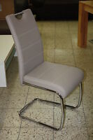 Flora34 / 2 Freischwinger=Set Stuhl Schwingstühle Kunstleder Cappuccino