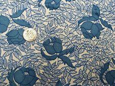 Best Vintage Feedsack Quilt Fabric 40s Art Deco Tulips Blue Wwii Era Flour Sack
