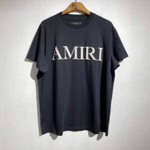 AMIRI 21/SS Letter Logo Three-dimensional Foam Printing Men Women T-Shirt M964
