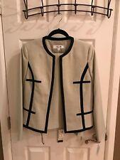 NEW Jones New York Wmn Sz 8 Suit Jacket-Pant Set Ivory Color Black Pattern wTag