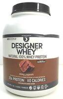 Designer Protein Designer Whey Natural 100% Whey Protein Gourmet Chocolate 4 lbs