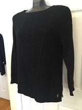 Juicy Couture Cotton Rabbit Hair Blend Black Sweater Sz XL