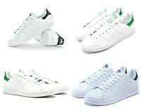 New Adidas Originals Mens Trainers Stan Smith Leather Shoes Sneakers White