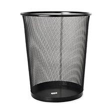 Metal Mesh Waste Basket Garbage Bin Trash Can Paper Container Desk Side Office