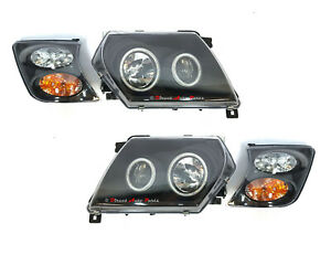 *ANGEL EYES* PROJECTOR HEAD LIGHT LAMP (LED) for NISSAN PATROL GU Y61 1997-2004