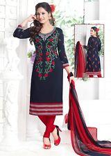 Elegant Crepe Designer Printed Unstitched Dress Material Suit D.No VM1760