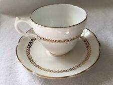 Regency White & Gold Bone China Teacup & Saucer England