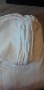 """100% Bamboo King size duvet cover.  Pure White.  """"SECOND"""""""