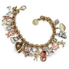 NEW SWEET ROMANCE RETRO STYLE MOTHER/ BABY CHARM BRACELET