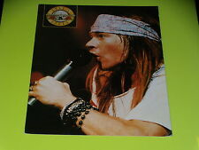 GRANDE CARTE  - GUNS N'ROSES - AXEL ROSE - ANNEES 1980 - STARS NON STOP - MP 40