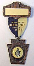 1924 PITTSBURGH BOYS CLUB FEDERATION ribbon medal badge +