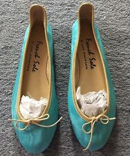 French Sole Blue Ballet Shoes Flats New 38 Ballerina Pumps Pretty Jane Winkworth