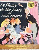 """La Plume De Ma Tante Et Frere Jacques 45 RPM 7"""" Single Vinyl Jimmy Carroll Orche"""