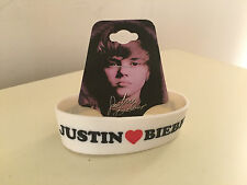 Authentic JUSTIN BIEBER  Rubber Silicone Wristband Bracelet NEW