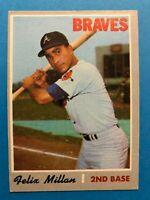 1970 Topps Felix Millan Card #710 Atlanta Braves