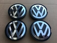 NEW 4PC SET 55MM VW VOLKSWAGEN CHROME CENTER WHEELS HUB CAPS LOGO 6N0601171