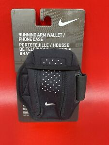 🔥Nike Running Arm Wallet Phone Case Black Adult Unisex Adjustable Stretch Fit