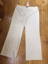 BEAUTIFUL NEW PRINCIPLES STONE / TAUPE LOOSE FLARED TROUSERS WITH BELT SIZE 16