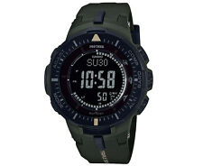 Casio Men's 42mm PRO TREK PRG300-3D Triple Sensor Ver. 3 Sports Watch - Khaki Gr