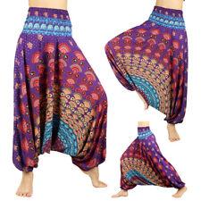 Womens Boho Baggy Harem Pants Hippie Wide Leg Gypsy Yoga Long Palazzo Trousers