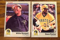 1983 Fleer #315 Dave Parker and #324 Willie Stargell - Pirates