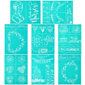 DIY Silk Screen Printing Stencil Transfer Flower Self Adhesive Mesh Fabric Bag