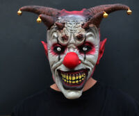 Creepy Evil Scary Halloween Clown Mask Latex Evil JESTER CLOWN