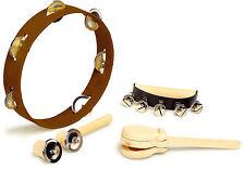 Childrens Percussion Musical Instruments Tambourine Handbells Symbols Bells 1700