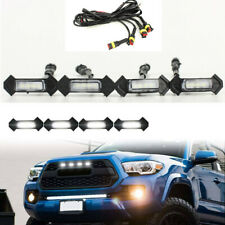 4PCS Smoke Front Grille White LED Lights for 16-up Toyota Tacoma w/TRD Pro Grill