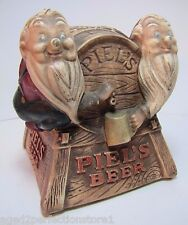 Old PIEL'S BEER Gnomes Liquor Store Bar Advertising Display Piel Bros New York