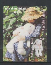 Norfolk Island - 1999, Year of the Rabbit sheet - MNH - SG MS692