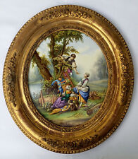 An Antique Porcelain Plaque Painting