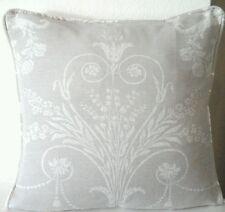 "Laura Ashley Josette Dove Grey Fabric Cushion Cover (Piped)16"""